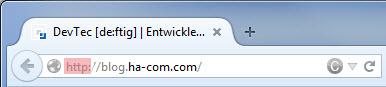 Firefox Protokoll in Adressleiste anzeigen
