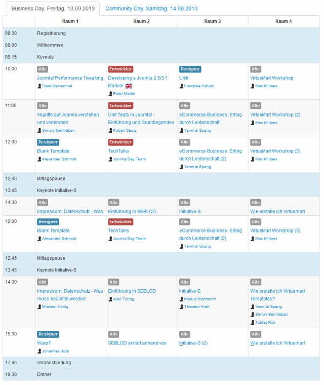 Joomla!Day Nürnberg 2013 Tag I