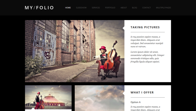 My Folio - One Page Template