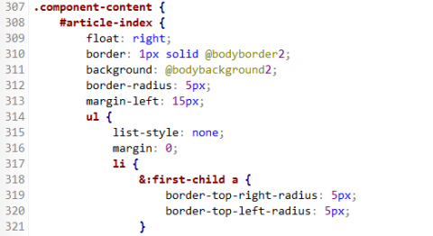 Rapid PHP Editor 2014 - LESS-Highlighting