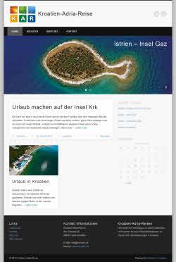Responsives Webdesign - Beispiel Kroatien Reise Blog