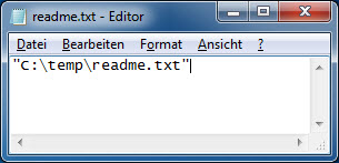 Windows 7 Pfad und Dateiname