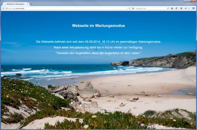 Eigener WordPress Wartungsmodus