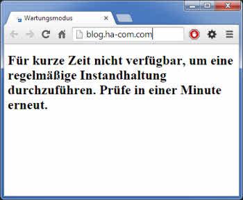 WordPress Wartungsmodus original