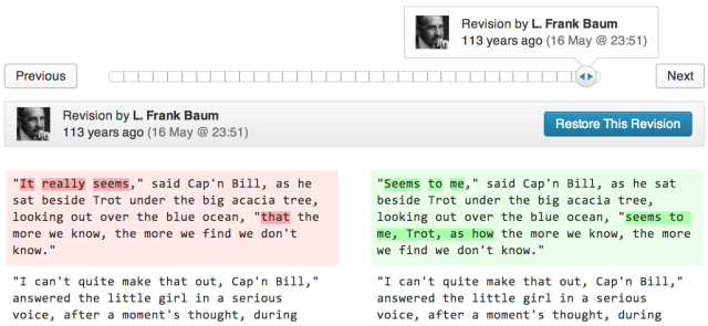 Wordpress 3.6 Revisionen
