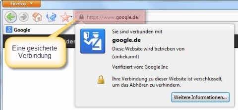 Webbrowser mit gesicherter Verbindung