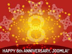 Joomla! 8. Jahrestag
